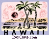 Vector Clip Art graphic  of a Hawaii