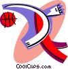 person playing basketball Vector Clipart illustration