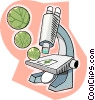 Microscope, biology Vector Clipart illustration