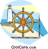 Vector Clip Art graphic  of a light house