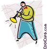 jazz, trumpet player Vector Clipart illustration