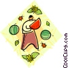melons Vector Clipart picture