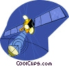 satellite communication Vector Clipart illustration