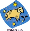 Vector Clip Art image  of an astrology sign
