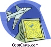 radar tracking aircraft Vector Clipart illustration