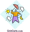 Vector Clip Art image  of a weather