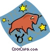 Taurus the bull Vector Clipart graphic