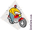 Vector Clipart picture  of a motorcycle
