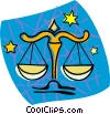 scales, Libra Vector Clip Art graphic