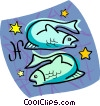 Vector Clipart graphic  of a Pisces