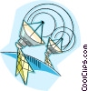 satellite communications Vector Clipart illustration
