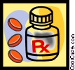 Vector Clip Art graphic  of a prescription drugs