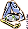 Snorkel, flippers, mask, snorkeling equipment Vector Clip Art picture