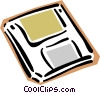Vector Clip Art image  of a 35mm diskette