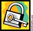 Vector Clipart picture  of a lock and key