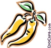 hot banana peppers Vector Clipart illustration
