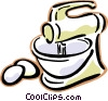 blender with eggs Vector Clip Art picture