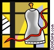 Vector Clip Art image  of a sewing