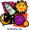 Vector Clipart image  of an astrology sun