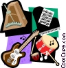 music motif, music, drums Vector Clip Art graphic