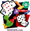 Vector Clipart illustration  of a gambling motif