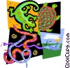 Vector Clip Art graphic  of a reptile motif