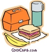 Vector Clipart picture  of a Child's school meal