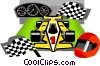 Vector Clip Art image  of a race car