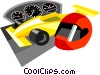 Vector Clipart graphic  of a race car