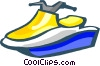 Vector Clip Art picture  of a sea doo