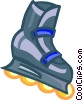 Vector Clip Art picture  of a roller blade