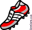 Vector Clip Art image  of a Soccer cleat