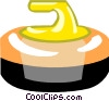 Vector Clip Art image  of a curling rock