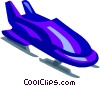 bobsled Vector Clipart graphic