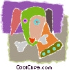 Vector Clip Art picture  of a dog