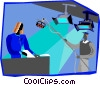 Vector Clip Art image  of a television production