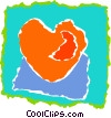 Vector Clipart image  of a heart