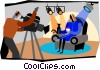 Vector Clipart illustration  of a television production