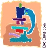Vector Clipart picture  of a microscope