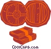 bank vault Vector Clip Art picture