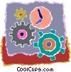 Vector Clip Art graphic  of a gears