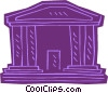 Vector Clip Art graphic  of a capitol hill