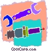 wrench, spark plug Vector Clipart picture