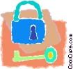 lock & key Vector Clip Art graphic