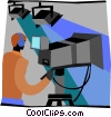 Vector Clipart image  of a television production