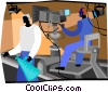 Vector Clipart graphic  of a television production