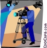 camera man Vector Clipart illustration