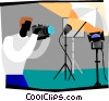 Vector Clip Art image  of a photography ready for shoot