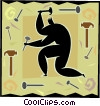 man with hammer Vector Clipart illustration