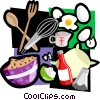 Vector Clip Art image  of a baking motif